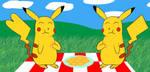 Hanukkah Fanarts - Day 7: Couple of Pikachus by C5000-MakesStuff