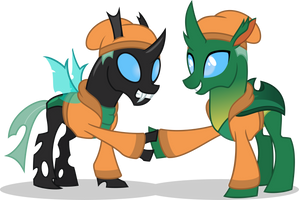 Sketchy Meets Sketchy the Reformed Changeling by MLP-TrailGrazer
