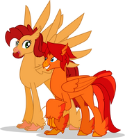 Claw Frame and Golden Fowl by MLP-TrailGrazer