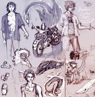 Sketchbook sketchies by SineSquared