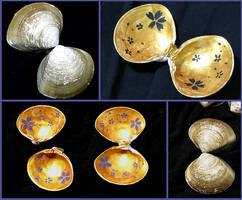 Golden Cherry Blossom Shells by SineSquared