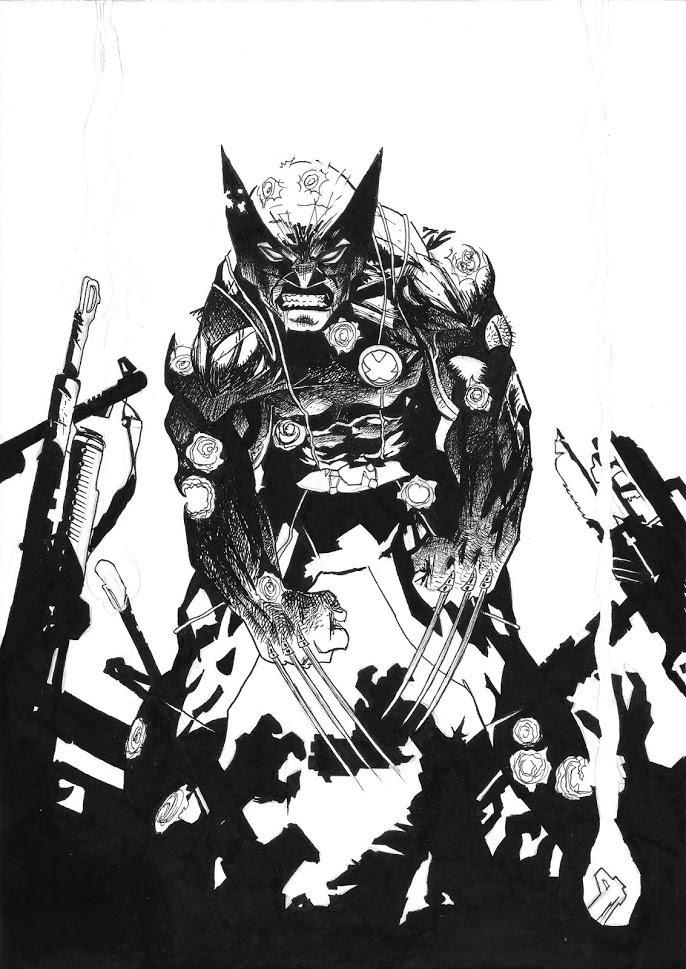 Wolverine #300 BW by MickHunter