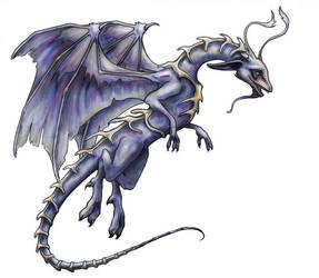 Vertibre Dragon -Colored by LiquidDragonN