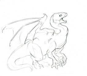 Keening dragon by LiquidDragonN