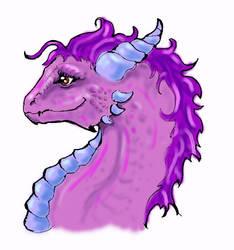 Mom's Valentine Dragon Head by LiquidDragonN