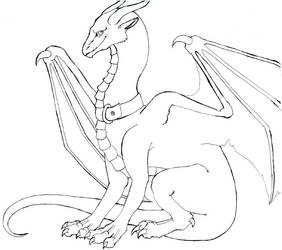 Kitten-Dragon: Lineart by LiquidDragonN
