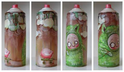 Spraycan Hairy suit by Artjunk
