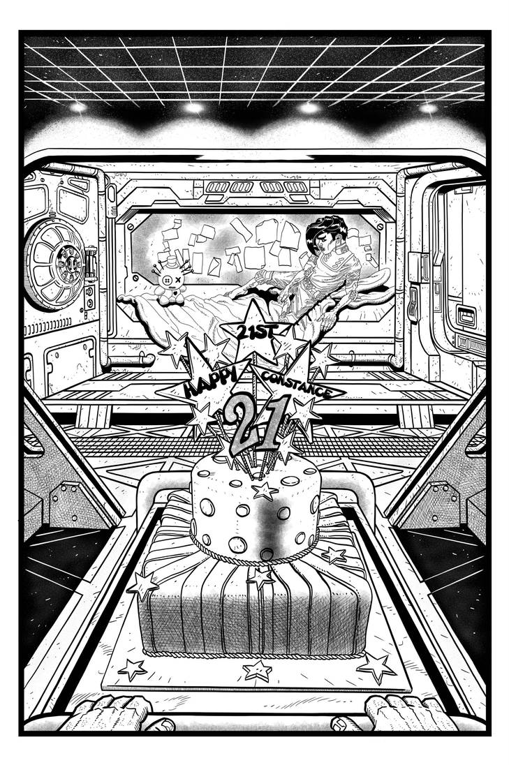 Coffin Dodger #1 Page 1 (Inks) by danielbelic