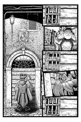 Coffin Dodger #1 Page 5 (Inks) by danielbelic