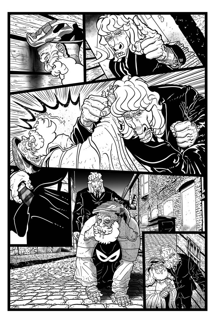 Coffin Dodger #1 Page 6 (Inks) by danielbelic