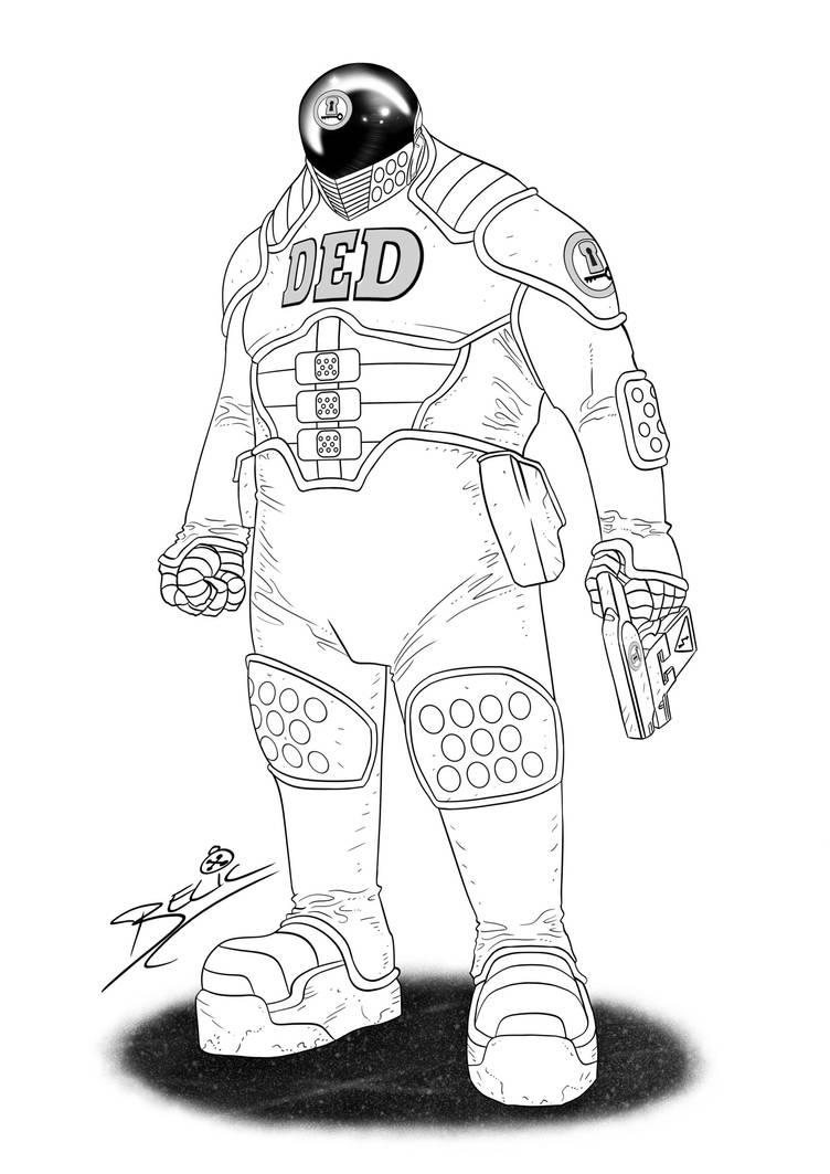 DED Trooper Concept Art (Digital Inks) by danielbelic