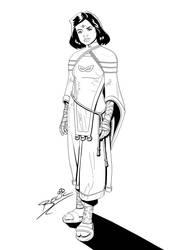 Zenna Concept Art (Digital Inks) by danielbelic