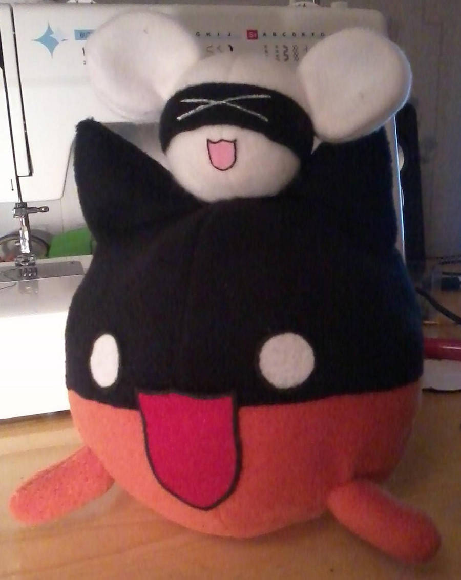 Bat Cat and the PingPong Mouse Plushies by PlushWorkshop