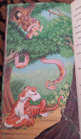 Mowgli, Kaa, Shere Khan by pasta79