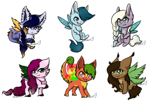 Flufabu Chibi Batch - 02 by Celioxa