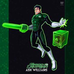 Amalgam Project - Green Lantern Ash Williams by S-m-o-G