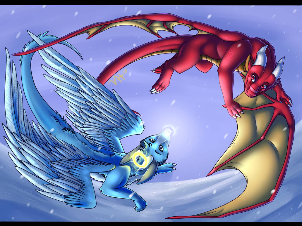 The First Snowflake by VanillaHellen