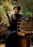 lady with the birdcage by Anti-Pati-ya