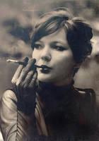 lady with a cigarette by Anti-Pati-ya