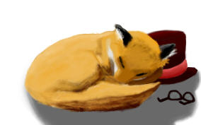 New Deviant-ID: Sleepy Fox by CleverAsFoxes