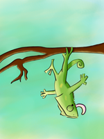 Veiled Chameleon Cartoon -Request by KelpGull by CleverAsFoxes
