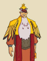 Gaepora's Golden Loftwing Costume by CleverAsFoxes