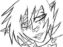 Blackheart Line Art by oddsockzx