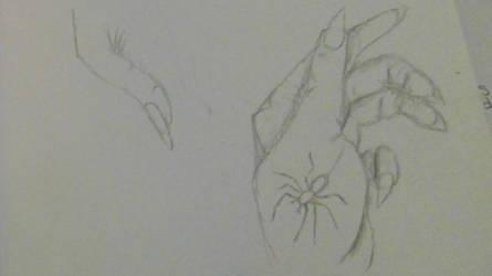 Blackheart hand study by oddsockzx