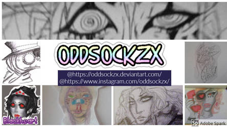 My artist card by oddsockzx