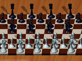 Chess. Single Image Stereogram by 3Dimka