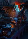 Dragon-vs-tanks01 by Lunathyque