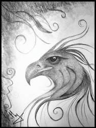 Dessin Tete Phoenix by Lunathyque
