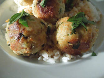 Panang Chicken Meatballs by crotafang