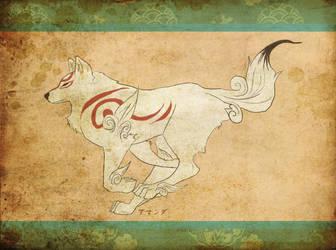 Okami Running by mandygugs
