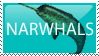 narwhals stamp by bopx