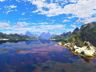 My first Terragen 2 render by Axe-Canabrava