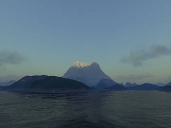 Distant Mountain by Axe-Canabrava