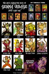Genma Visage Characters part 2 2017 by MrTuke