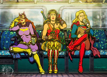 Super Heroine commute. by MrTuke