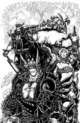 Ryuken and the Gang 2017 by MrTuke