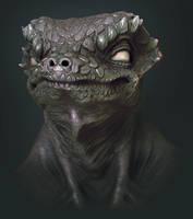 Lizard Sculpt by CRYart-UK