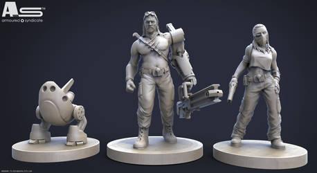 Armoured Syndicate Miniatures by CRYart-UK