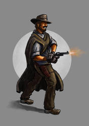 Yet another cowboy drawing by Ninorabbi