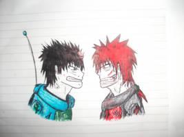 Red vs Blue by Dashdrawings