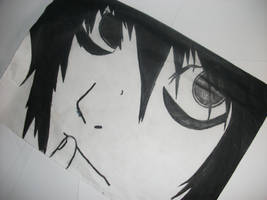 L from Death Note by Dashdrawings