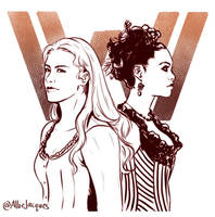 Westworld: Dolores and Maeve by AllieJacques