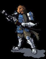Samurai Dragonborn by Will-E-H