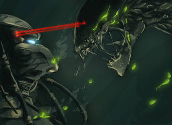 Alien vs Predator by hyacinthum