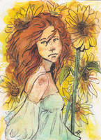 Here comes the Sun (Helia) ACEO by fingalificated