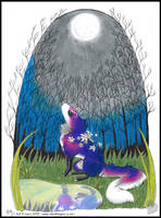-Holiday Gift Eskchange - Under the Moon- by Silvolf